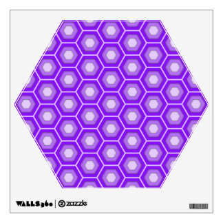 Purple Hex Tiled Wall Decal