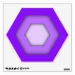 Purple Hex Wall Decal