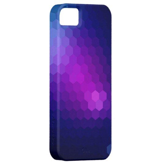 Purple hexagonal seamless graphic iPhone SE/5/5s case