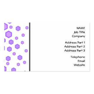 Purple Hexagons. Double-Sided Standard Business Cards (Pack Of 100)