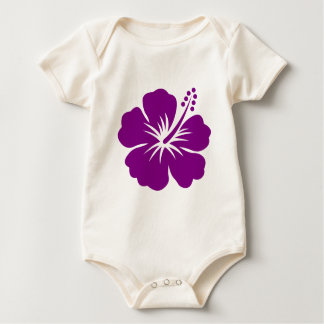 Purple hibiscus aloha flower baby bodysuit