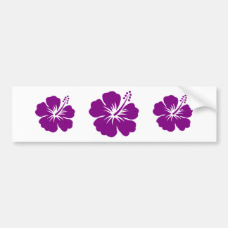 Purple hibiscus aloha flower bumper sticker