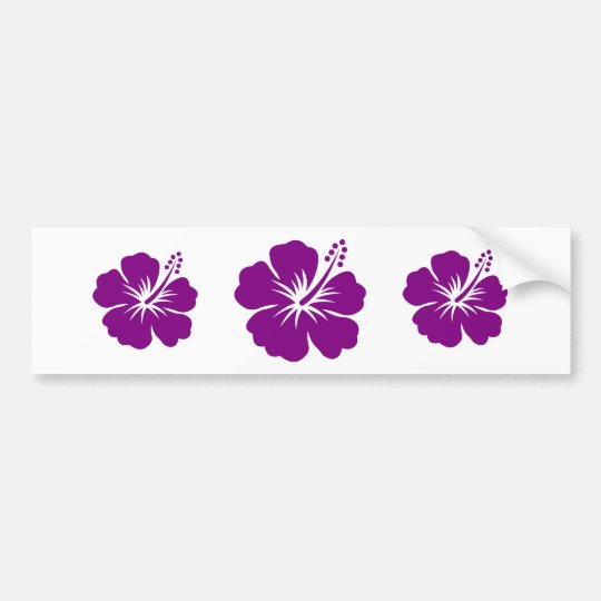 Purple hibiscus aloha flower bumper sticker