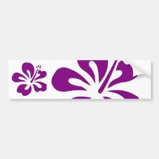 Purple hibiscus aloha flower C Bumper Sticker