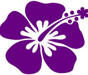 Purple Hibiscus Flower Stickers Zazzle