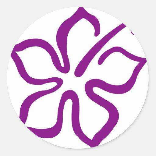 Purple hibiscus aloha flower D Sticker