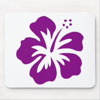 Purple hibiscus aloha flower E Mouse Pad
