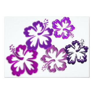 Purple Hibiscus Blooms Card