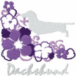 Purple Hibiscus Dachshund Hoodie