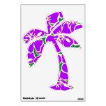 Purple Hibiscus Floral Tropical Luau Palm Tree Wall Skins
