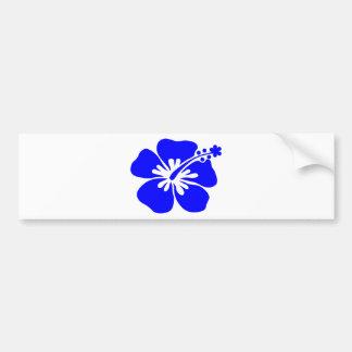 Purple hibiscus flower bumper sticker