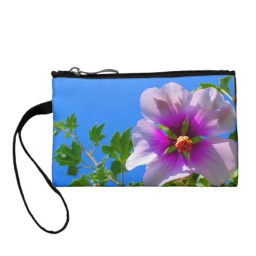 Purple Hibiscus Flower Change Purse