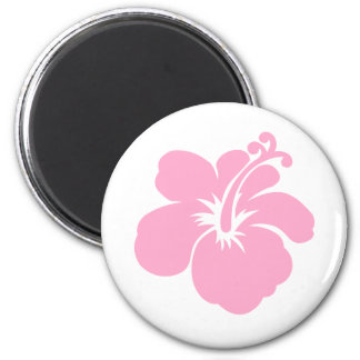 Purple hibiscus flower F Magnet