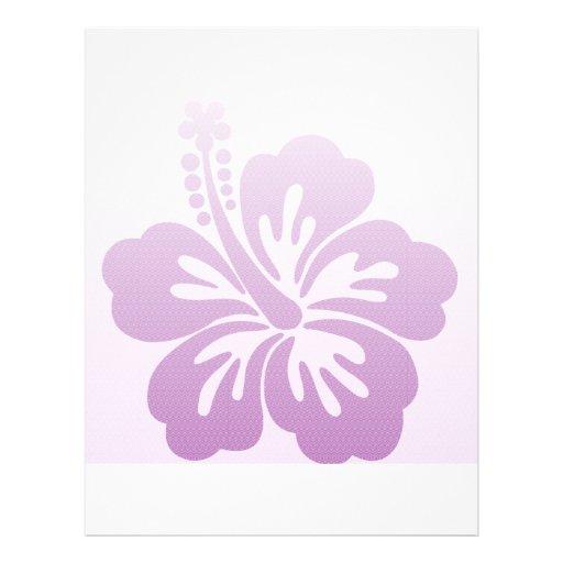 Purple Hibiscus Flower Clip Art