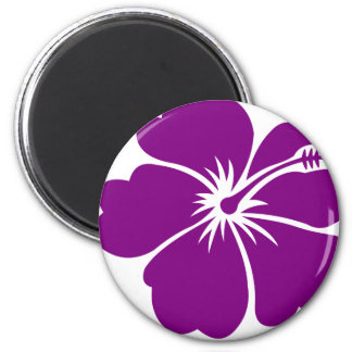 purple hibiscus flower magnet
