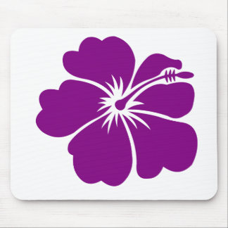 purple hibiscus flower mouse pad