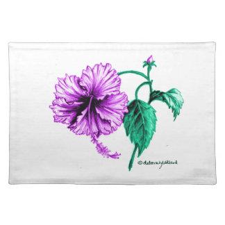 Purple Hibiscus Flower Place Mats