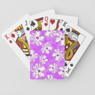 Purple Hibiscus Flowers Deck Of Cards