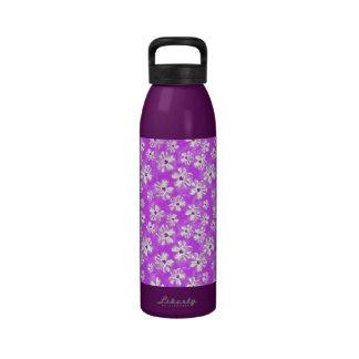 Purple Hibiscus Flowers Drinking Bottles