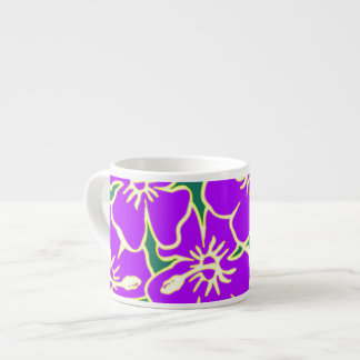 Purple Hibiscus Flowers Tropical Hawaiian Luau Espresso Cup