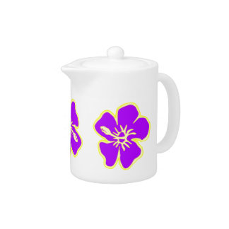 Purple Hibiscus Flowers Tropical Hawaiian Luau