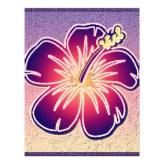 "Purple hibiscus 8.5"" x 11"" flyer"