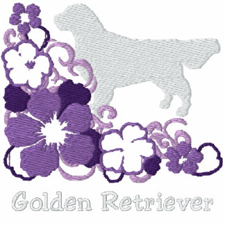 Purple Hibiscus Golden Retriever