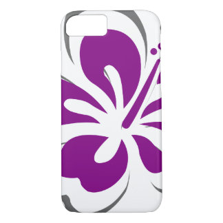 Purple hibiscus Hawaii theme gifts iPhone 7 Case