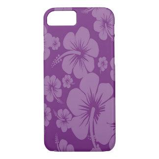 Purple Hibiscus Hawaiian Print iPhone 8/7 Case