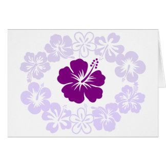 Purple Hibiscus Lei Card