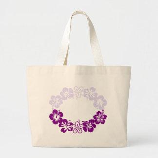 purple hibiscus lei garland bags