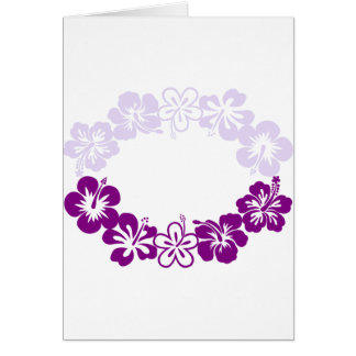 purple hibiscus lei garland card