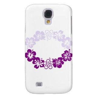 purple hibiscus lei garland samsung galaxy s4 cases