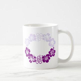 purple hibiscus lei garland coffee mug