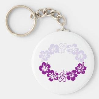 purple hibiscus lei garland key chain