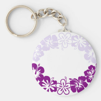 purple hibiscus lei garland keychain