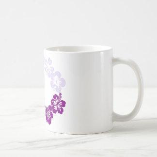 purple hibiscus lei garland mug