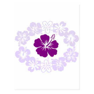Purple Hibiscus Lei Post Card