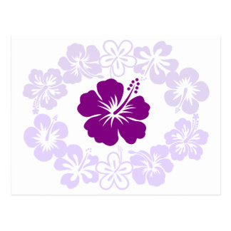 Purple Hibiscus Lei Postcard