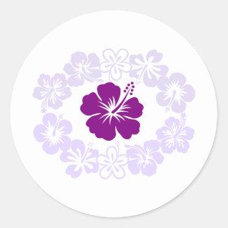 Purple Hibiscus Lei Sticker