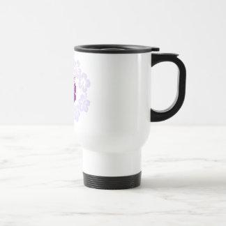 Purple Hibiscus Lei Travel Mug
