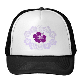 Purple Hibiscus Lei Trucker Hat