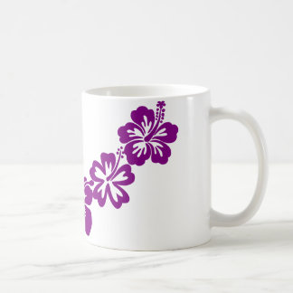 Purple hibiscus leis coffee mug