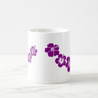 Purple hibiscus leis mug