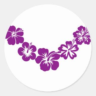 Purple hibiscus leis sticker