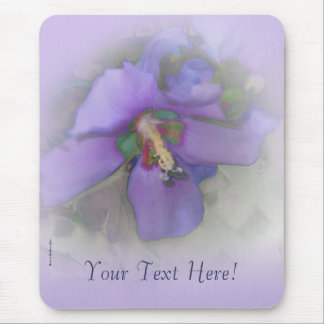 Purple Hibiscus Mouse Pad