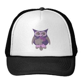 Purple Hibiscus Owl.png Mesh Hats