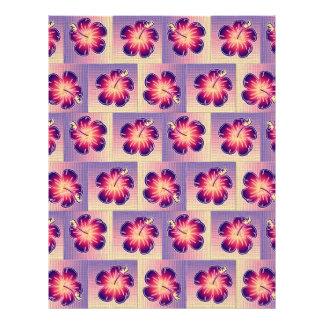 "Purple hibiscus pattern 8.5"" x 11"" flyer"