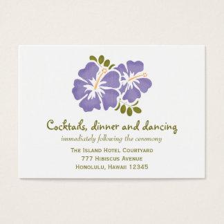 Purple Hibiscus Reception Enclosure Cards