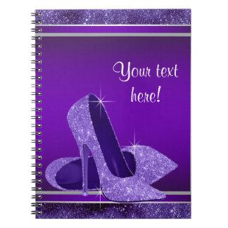Purple High Heel Guest Book Spiral Notebook